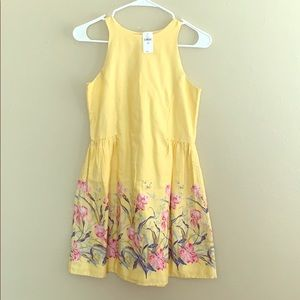 NWT GAP yellow floral dress for girls